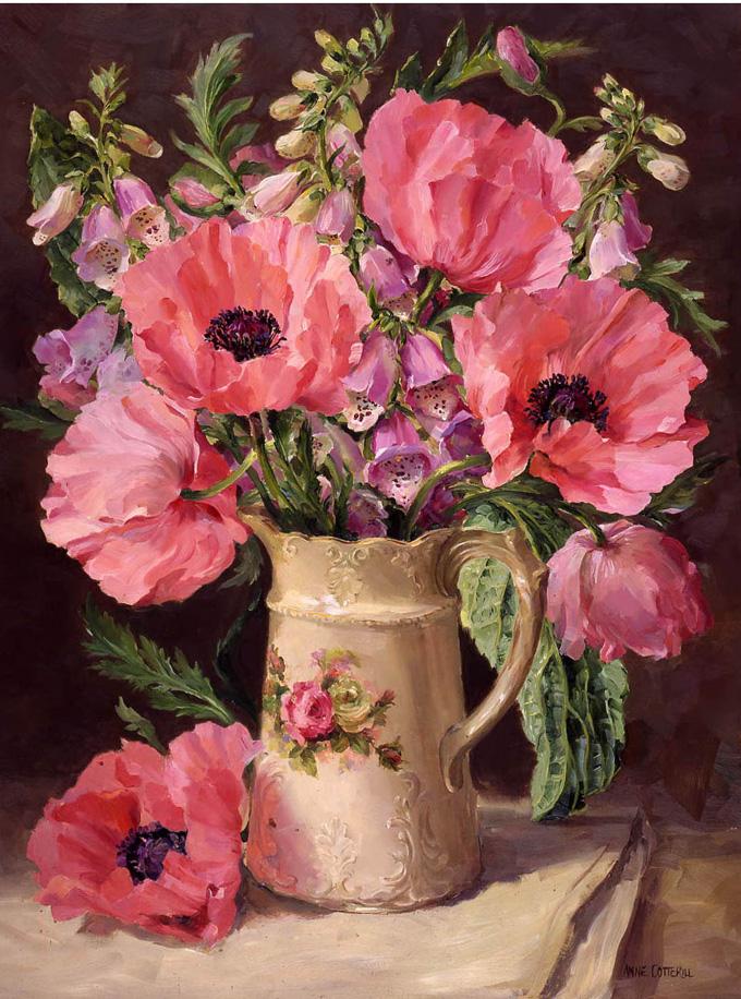 Oriental Poppies. Blank / Birthday Greetings Card A-R063