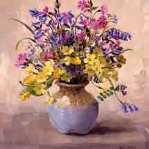 Bluebells and Campion Birthday Card by Anne Cotterill