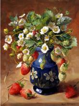 Strawberries - Birthday Card by Anne Cotterill