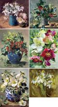 Anne Cotterill Winter Flowers Christmas Card Set 2018