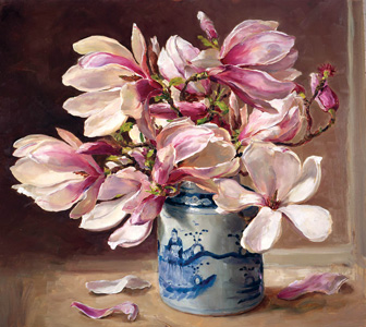 Giclée Flower Prints on Canvas reproduced from the oil paintings of Anne Cotterill