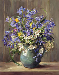 Bluebells reproduction painting by Anne Cotterill